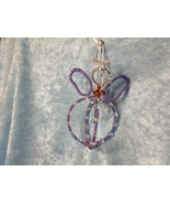 Lilac/Pink Czech Glass Hand-crafted Wire Angel Ornament/Sun-catcher  - $21.99