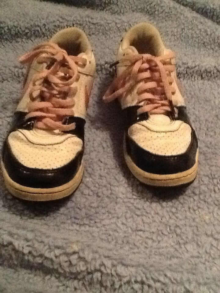 Nike Air Force 1 Girls Youth 3 Pink Black&White Sneakers