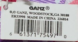 GANZ Brand Multi Color Chevron Monogram G Coin Purse With Purple Polka Dot Bow image 5