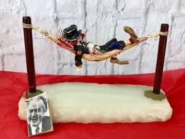 Ron Lee Red Skelton Vintage Signed Metal Clown Sculpture Gold Beading On... - $149.60