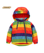 Boys Girls Jackets Fashion Cool Bomber Jacket Kids Rainbow Colour Para  - $31.98+