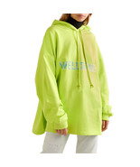 WE11DONE Oversized Printed Cotton-jersey New Logo Hoodie - $289.00