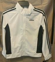 Adidas Girls Black and White Zip-Up Jacket With Logo Size 14 - $17.82