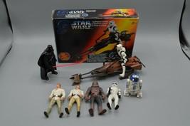 Star Wars PotF Power of the Force Imperial Speeder Bike + Figures 1995 Kenner - $38.52