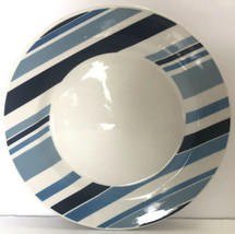 "Pier 1 Marea Dinner Plate Blue & White Stripes Earthenware Made in Italy 10.5"" - $9.89"