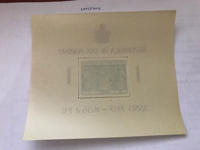 San Marino Independence Monument s/s mnh 1937  stamps