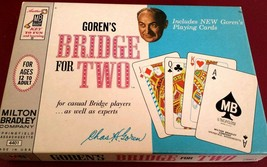 Vintage 1964 Chas GORENS Bridge For Two GAME  Milton Bradley Cards Classic  - $9.69