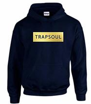 CC Bryson Tiller Trapsoul Hoodie Navy Blue (Gold Print) - $29.99