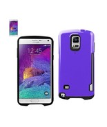 REIKO SAMSUNG GALAXY NOTE 4 CANDY SHIELD CASE WITH CARD HOLDER IN PURPLE... - $10.55