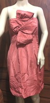 J Crew Silk Taffeta Bow Monde Dress brook chedron strapless party cocktail - $15.79
