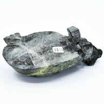 Hand Carved Zimbabwean Serpentine Stone Box Turtle Sculpture Figurine image 5