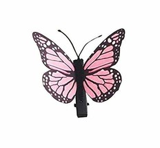 Set of 3 Butterfly Hair Pin Fashion Hair Clip Creative Hairpin,3.15'',Pink Lace