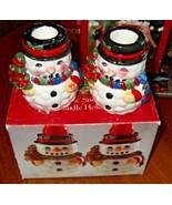Vintage Snowman Candlesticks pair - €6,88 EUR
