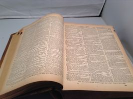 Antique Leather Bound Webster Dictionary  image 10