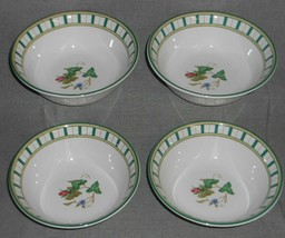 Set (4) Lenox SUMMER TERRACE PATTERN Soup/Cereal Bowls - $71.27