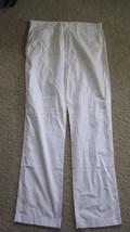 J. Crew White Regular Fit Men's Size 34  X 34 100% Cotton Casual  Pants - $25.97