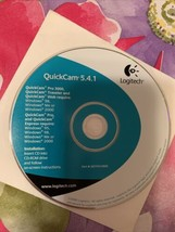2000 Logitech QuickCam Software 5.4.1 Disc In Paper Sleeve No Camera Nev... - $12.99
