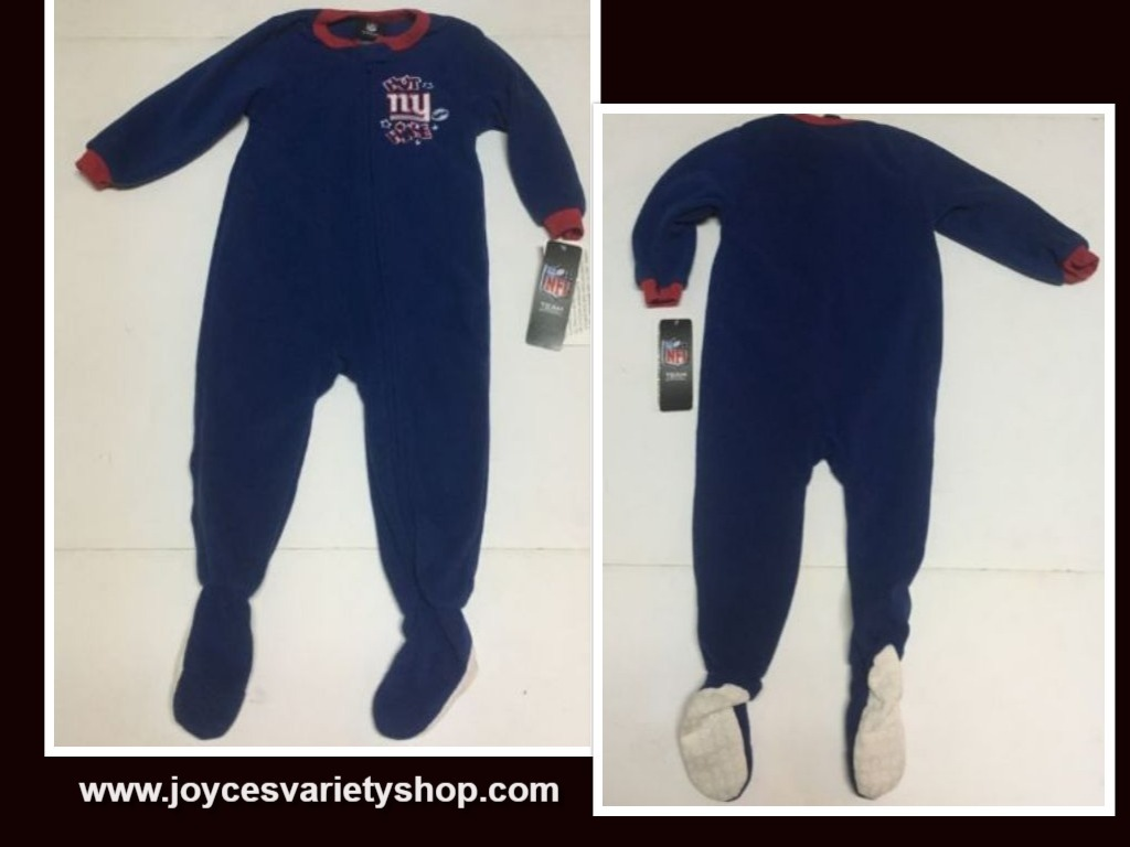 Primary image for New York NFL Boy's Footed Sleeper One Piece SZ 24 Months