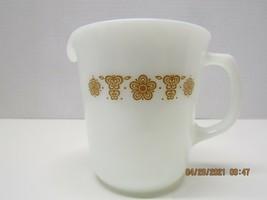 "Pyrex,   Butterfly gold, Creamer. ""D"" Handle,  1970s. - $7.92"