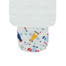 Set of 3 Cotton Material Babies Sweat Absorbent Towels Plane Style, S