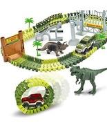 AUUGUU Dinosaur Race Car Track Train Toys, Perfect Birthday for 3 4 5 6 ... - $27.25