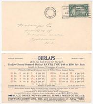 Scott #614 1c Huguenot Walloon 1925 NY PM NYC Hoffman Corr Burlap Mfg Po... - $16.73