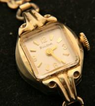 Beautiful ladies' 1965 Bulova Swiss 17 jewel manual wind gold dress wris... - $74.25