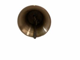 Vintage Antique Brass Ornate Hand Dinner Bell image 4