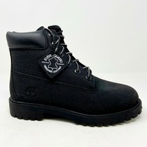 Timberland 6 Inch Premium Waterproof Black Leather Junior Youth Boots 34975 - $74.95