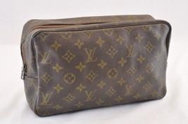 LOUIS VUITTON Monogram Trousse Toilette 28 Old Clutch Bag M47522 Auth ar957 - $180.00