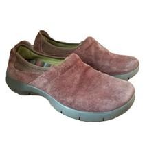 Dansko Brown Suede Leather Comfort Clogs Nursing Shoes Size 40 US 10 Slip On - $27.67