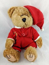 "Wishpets THEODORE Christmas Teddy Bear Plush 12"" 1998 Stuffed Animal - $8.24"