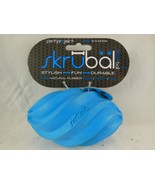 PetProjekt Skrubal Dog Chew Football Toy Blue Small Natural Rubber Non T... - $4.84