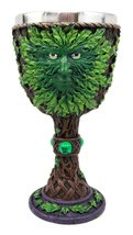 Atlantic Collectibles Large Mythical Greenman Deity Of Rebirth Wine Gobl... - $23.99
