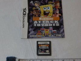 Attacco Of The Toybots Nintendo DS Gioco Libretto Only Nicktoons Tutti S... - $9.61