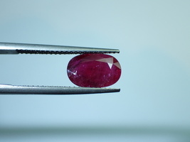 1.99 cts Natural ruby old mines siamese ruby deep red in color  - $125.00
