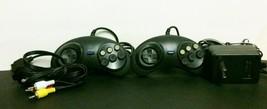 NEW 2 Gamepad Controllers + AV Cable RCA + AC Adapter for Sega Genesis 1... - $18.76