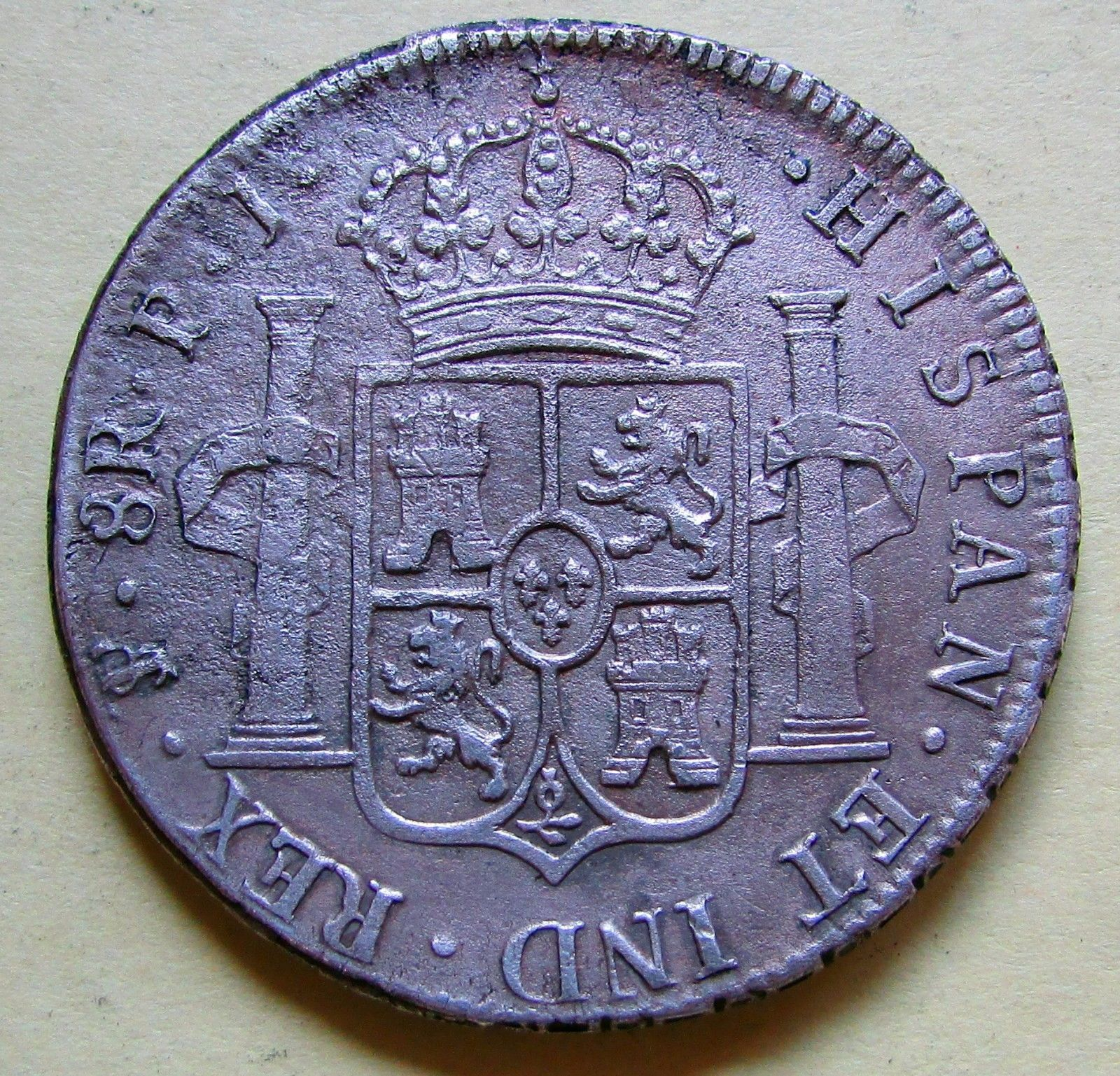 1818-PTS Bolivia 8 Reales - Ferdinand VII. 0.8960 Silver KM #84 - 2047