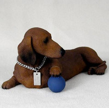DACHSHUND (RED) MY  DOG  Figurine Statue Pet Lovers Gift Resin Hand Painted - $26.50