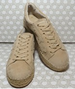 Marc Fisher Tan Suede Gold Star Espadrilles Platform Sneakers Size 8 New  - $68.31