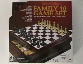 Cardinal Family 10 Game Set New - Chess, Checkers, Backgammon, more - $23.51