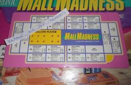 Vintage 1989 Mall Locura de Compras Juego Mesa Pieza Repuesto Amarillo Tarjeta - $7.34