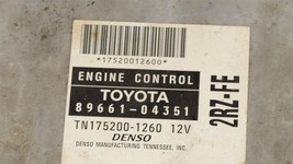 Toyota Tacoma 2RZ-FE 4x2 ECM ECU BCM Computer Brain 89661-04351 TN 175000-1260 image 2