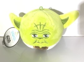 Star Wars Yoda Hallmark Fluffball Toy Christmas Ornament Green Plush Jedi Master - $6.44