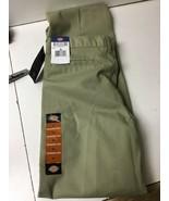 Boys' DICKIES FLEX Beige Classic Fit Flat Front Khaki Pants Size 16 NWT - $9.74