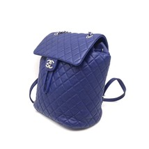 AUTHENTIC CHANEL ELECTRIC BLUE QUILTED LEATHER LARGE URBAN SPIRIT BACKPACK SHW image 5