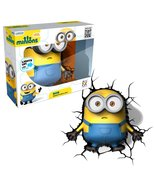 3DLightFX Minions Series Battery Operated 9 Inch Tall 3D Deco Night Ligh... - $54.99
