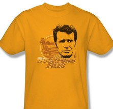 Rockford Files T-shirt vintage TV show distressed 100% cotton gold tee NBC303 image 2