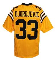 Djordjevic #33 All The Right Moves Movie New Men Football Jersey Yellow Any Size image 2