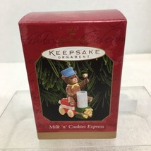 1999 Milk N Cookies Express Hallmark Christmas Tree Ornament MIB Price Tag H4 - $9.41